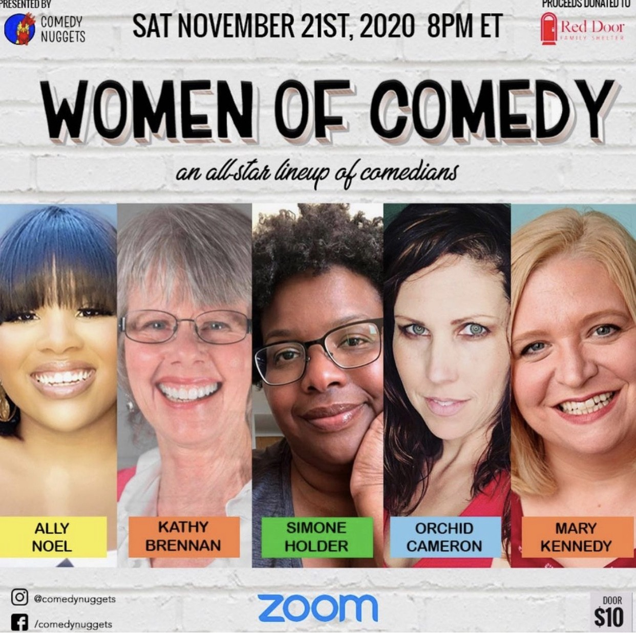 Women of Comedy (Zoom) - November 21, 2020
